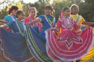 """Austin High School's Ballet Folklorico perform at a screening of the movie """"Coco"""""""